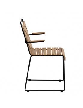 Lot de 2 chaises en acier et bois