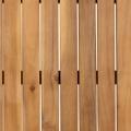 Table design en acacia et acier noir (Bois/Noir)