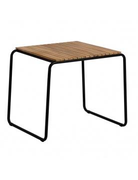 Table d'appoint design en acacia et acier noir