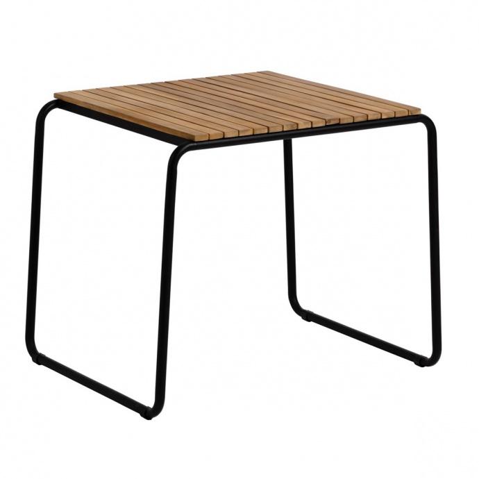 Table d'appoint design en acacia et acier noir (Bois et Noir)