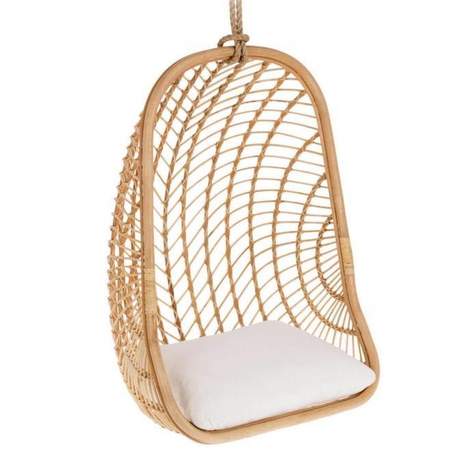 fauteuil suspendu en rotin (Naturel)