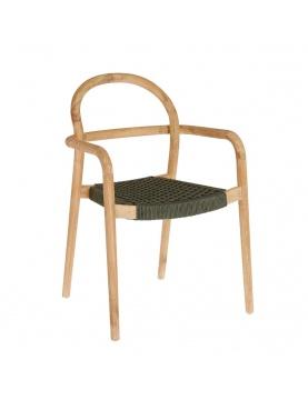 Chaise tressée en corde plate