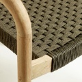 Chaise tressée en corde plate (Vert)