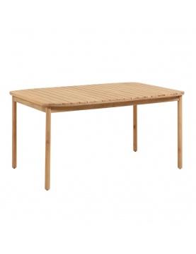 Table à lattes en bois massif