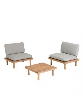 Ensemble détente avec fauteuils en acacia