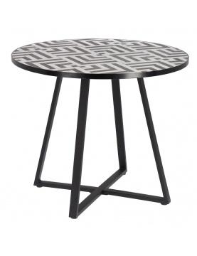 Table d'appoint en mosaïque noire & blanche