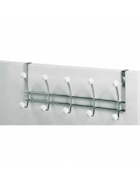 Patere 5t Dble Twin Chrome/blanc