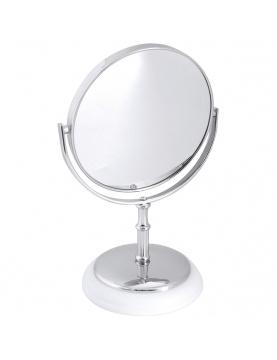 Miroir Sur Pied York Chrome Blanc