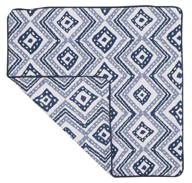 Housse de Coussin Esprit Azulejos (bleu et blanc)