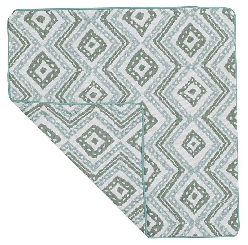 Housse de Coussin Esprit Azulejos (gris et blanc)