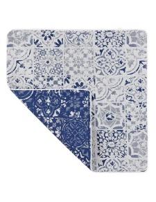 Housse de Coussin Motif Azulejos