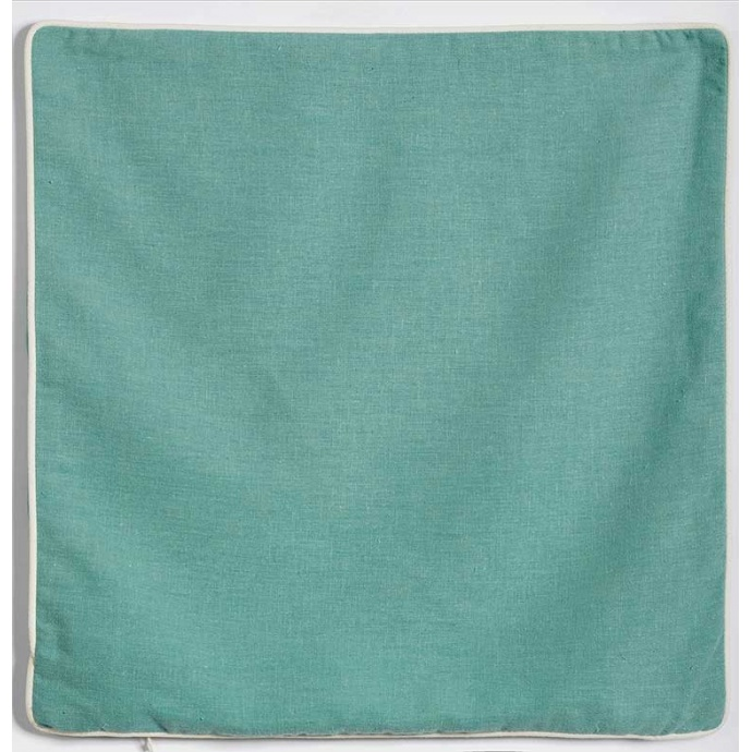 Housse de Coussin en Lin Lavé (Bleu Vert)