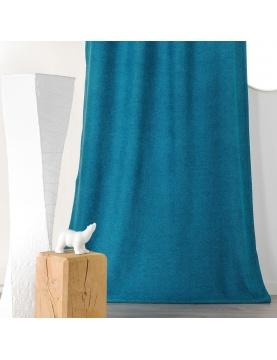 Rideau épais aspect laine chinée à galon fronceur