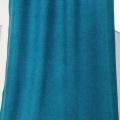 Rideau épais aspect laine chinée à galon fronceur (Bleu)