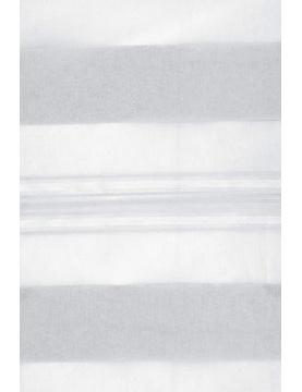 Voilage Blanc à Jeux de Rayures