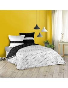 Parure de lit géométrie en noir et blanc
