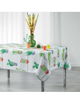 Mantel rectangular tendencia cactus