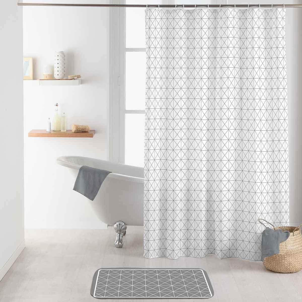 Rideau de Douche Esprit Scandinave (Blanc) - HomeBain : vente en ...