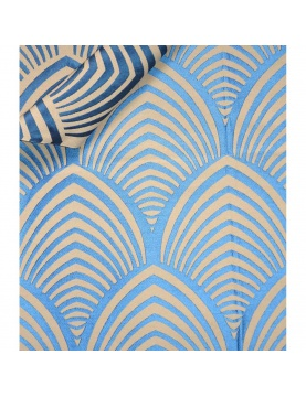 Tissu imprimé  à jacquard géométrique