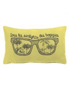Coussin déhoussable imprimé lunette de soleil