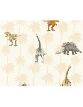 Papier peint enfant imprimé dinosaures