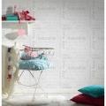 Papier peint Baby à écritures colorées (Lin)