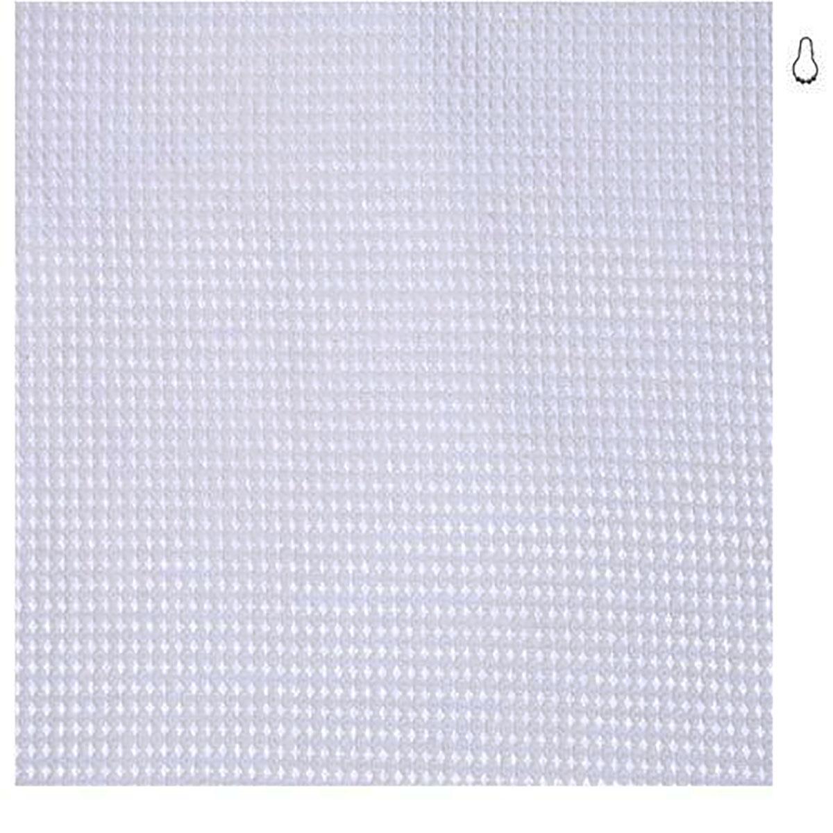 Rideau de douche en mini nid d'abeille (Blanc)