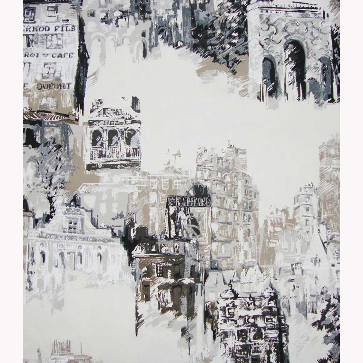 Tissu imprimé vue de Montmartre