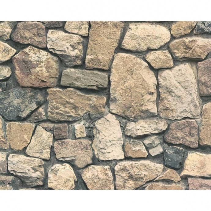 Papier peint en pierres naturelles (Marron)
