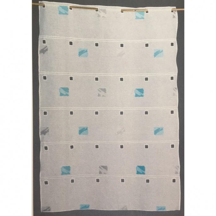 Brise bise modulable brodé de carrés colorés (Turquoise)