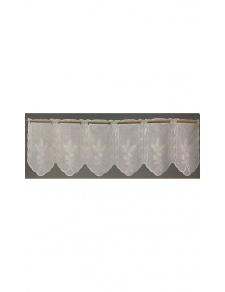 Visillo modulable con parte inferior festoneada