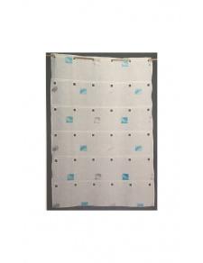 Visillo modulable bordado con cuadrados coloridos
