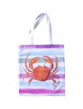 Sac à anses imprimé crabe