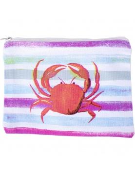 Trousse imprimée crabe