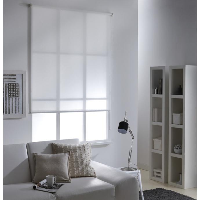 Store Enrouleur Tamisant Blanc (Blanc)