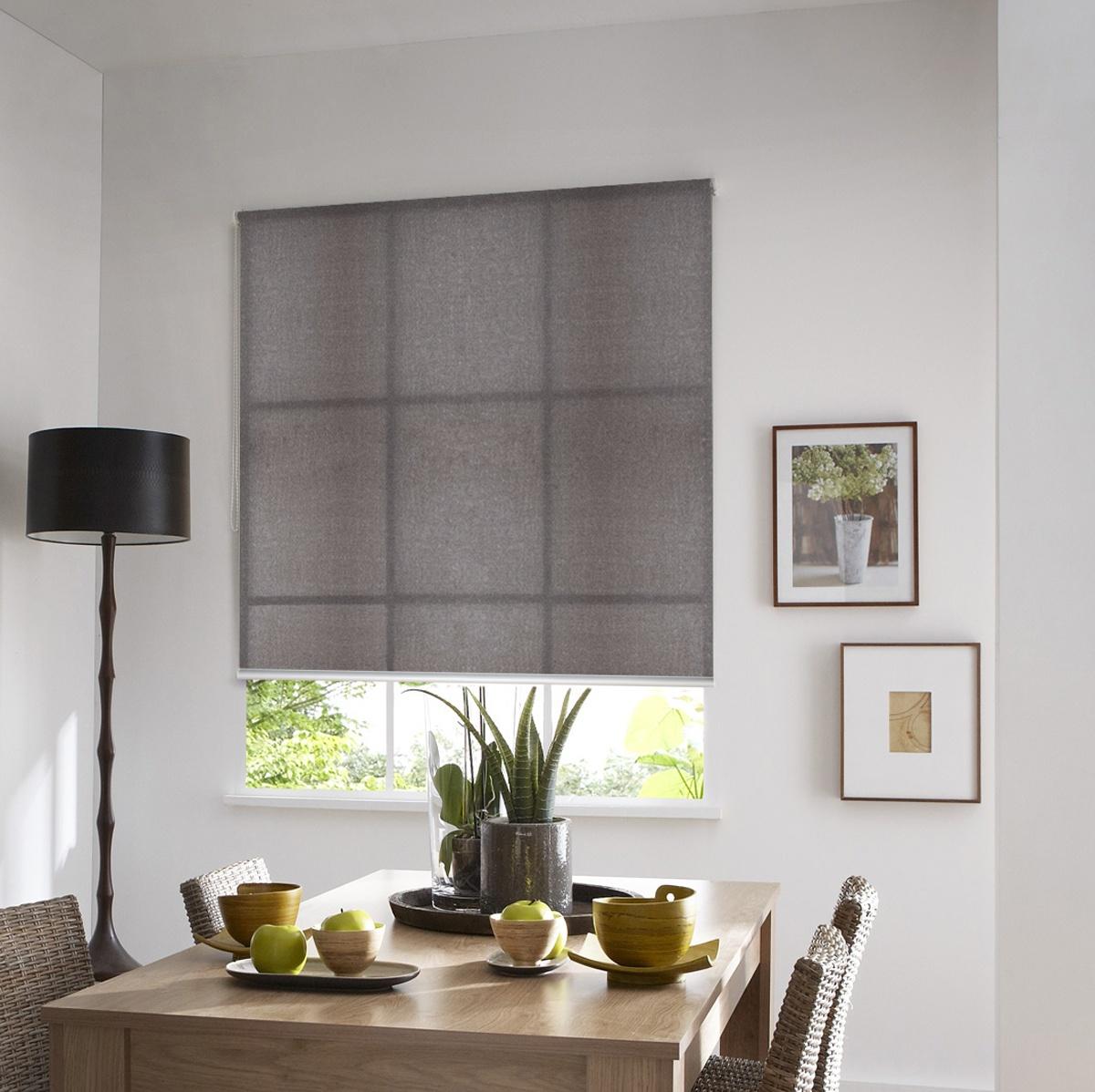 store enrouleur tamisant teintes de gris gris. Black Bedroom Furniture Sets. Home Design Ideas