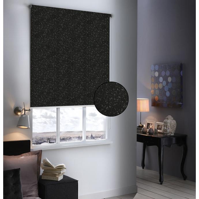Store Enrouleur Occultant Pailleté (Noir)