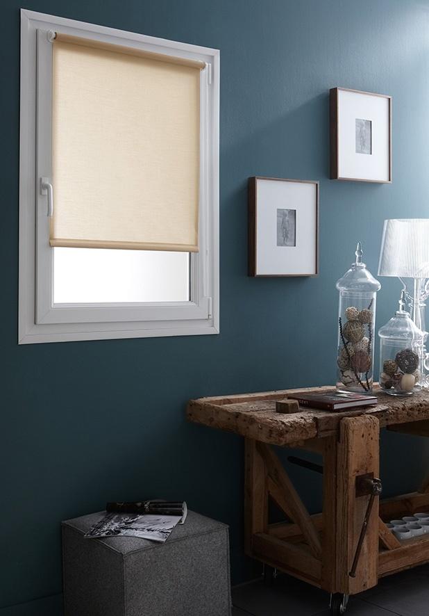 store enrouleur tamisant fixation sans percer ficelle. Black Bedroom Furniture Sets. Home Design Ideas