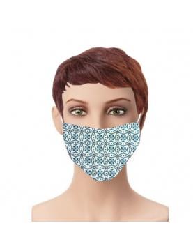 Lot de 4 masques en tissu géométrie arrondie