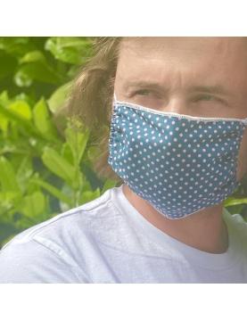 Lot de 4 masques en tissu à pois
