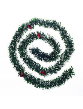 Grande guirlande de Noël avec baies rouges