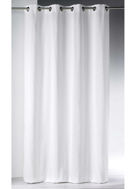 Rideau Tissé de Fils Métalliques  (Blanc)