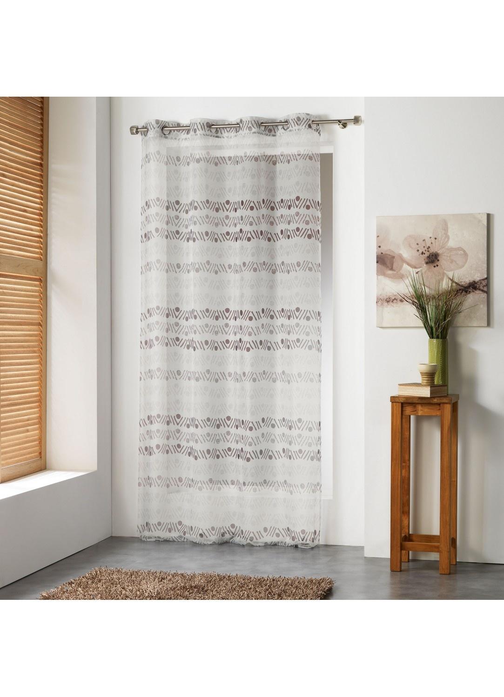 Voilage en Polyester à Rayures Horizontales Ethniques 140 x 280 cm (SANS)