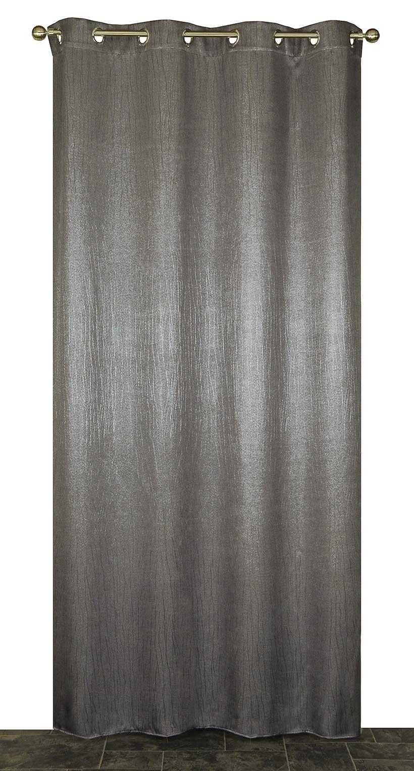rideau occultant effet craquel gris taupe bronze homemaison vente en ligne tous les. Black Bedroom Furniture Sets. Home Design Ideas