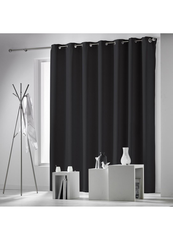 rideau uni et occultant grande dimension noir neige ivoire rouge taupe gris. Black Bedroom Furniture Sets. Home Design Ideas