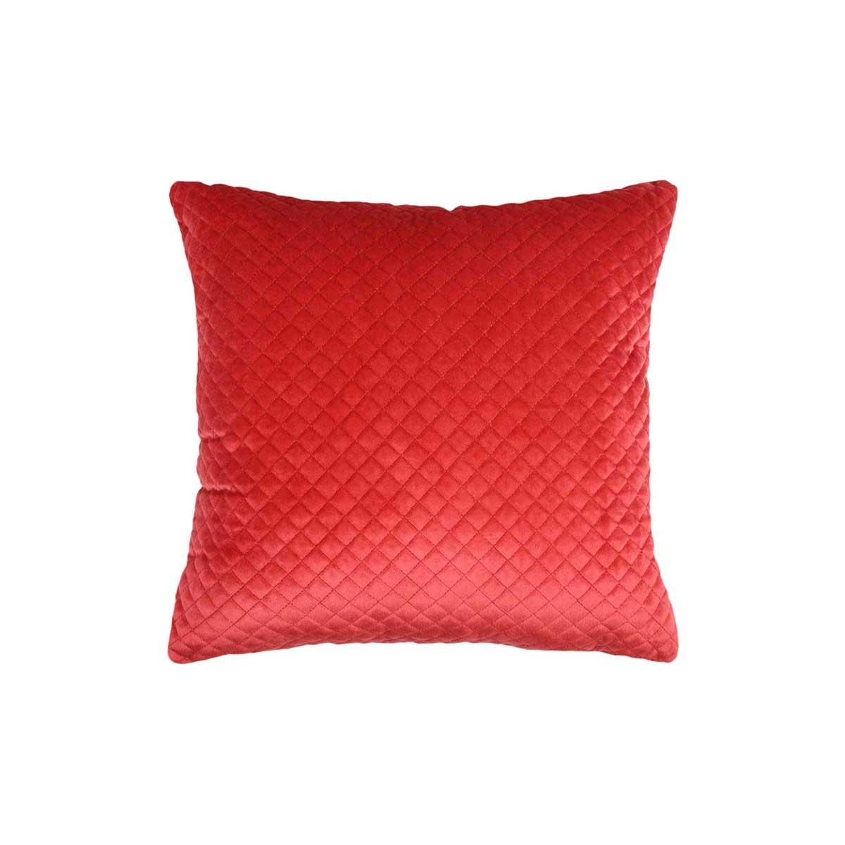 Coussin Effet Matelassé (Rouge)
