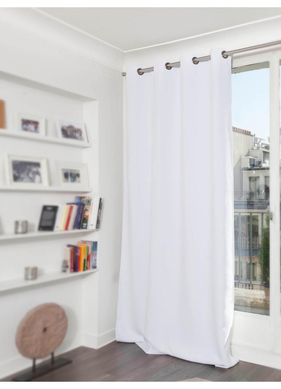 rideau grande hauteur phonique thermique et occultant moondream blanc grenat galet. Black Bedroom Furniture Sets. Home Design Ideas