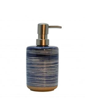 Distributeur de savon à fines rayures