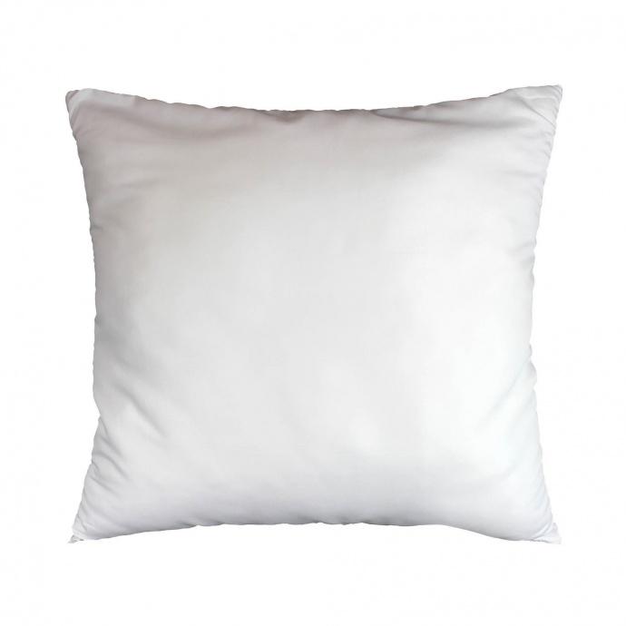 Oreiller uni confort en polyester (Blanc)
