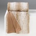 Plaid en Fausse Fourrure à Reliefs (Gris)